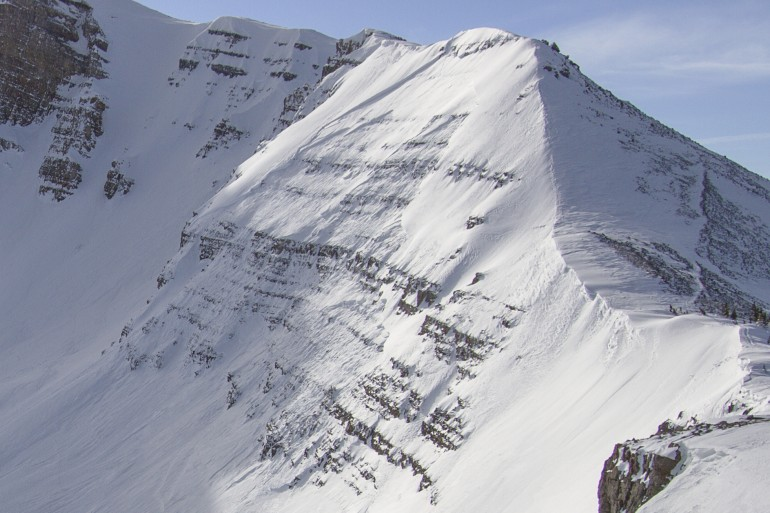 Puckerface, just after the 2014 fatal avalanche. Photo courtesy Alex Do.